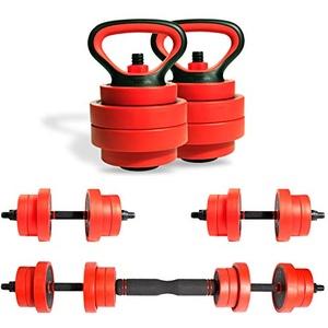 ZERRO Multifunktional Eisen Hanteln Set 2er verstellbar mit Verbindungsstahlrohr Kurzhanteln Langhanteln Hantelset professionell Dumbbell Gewichten - CCLIFE
