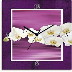 Wanduhr »Orchideen - violett«, Wanduhren, 34823819-0 lila lila