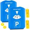 2er-Set Parkscheibe mit Eiskratzer, Einkaufs-Chip und Profilmesser