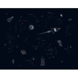 vtwonen Fototapete Universum, uni, (1 St), Schwarz - 300x300cm
