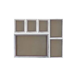 MCW Bilderrahmen Bilderrahmen Set H250, (Set), Für Quer- und Hochformat, Mit 2 mm Glasplatte, Mit Seidenband weiß