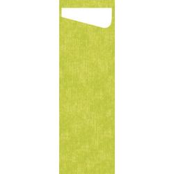 DUNI Sacchetto Serviettentaschen Airlaid SLIM, Praktische Bestecktasche, 1 Karton = 4 x 60 Stück = 240 Stück, kiwi