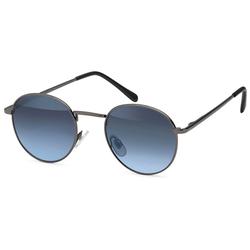 styleBREAKER Sonnenbrille Sonnenbrille Pantobrille rund Getönt grau
