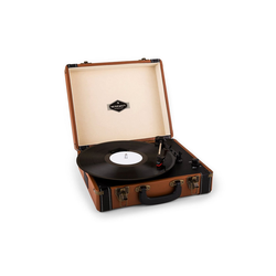 Auna Jerry Lee Retro-Plattenspieler LP USB braun Plattenspieler