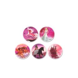 ergobag Schulranzen Klettie-Set 5er Prinzessin rosa