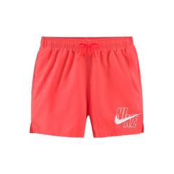 Nike Badeshorts, mit Markenlogo am Bein rot M