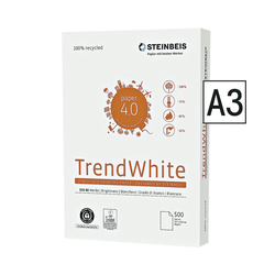 STEINBEIS Recyclingpapier Trend White, Format DIN A3, 80 g/m²