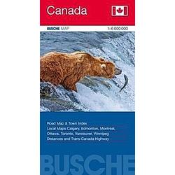 Busche Map Übersichtskarte Canada - Buch