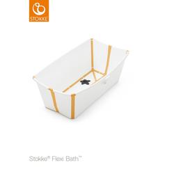 STOKKE® Badewanne Flexi Bath™ Set mit hitzeempfindlichem Stöpsel gelb ab der Geburt