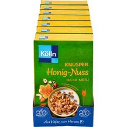 Kölln Knusper Honig-Nuss Müsli 500 g, 7er Pack