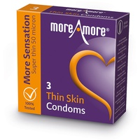 MoreAmore - Condom Thin Skin (3 pcs)