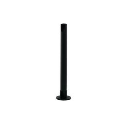 Standrohr mit Tischbefestigung, schwarz, Höhe 500mm