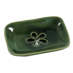 Guru-Shop Seifenschale Exotische Keramik Seifenschale - Blume 10 cm x 2 cm x 7 cm