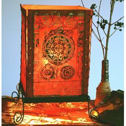 Guru-Shop Tischleuchte Lokta Papier Tischlampe, eckige Tischleuchte -.. 20 cm x 35 cm x 20 cm