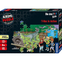 Kosmos Puzzle Kosmos 680657 Die drei ??? Kids T-Rex in Action 200 Teile Puzzle, Puzzleteile