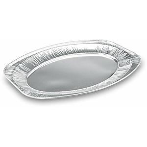 Alu-Catering-Platte, Aluminium-Partyplatte, Servierplatte 445 x 295 mm,  5 Stk.