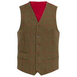 Alan Paine Combrook Tweed-Weste - sage