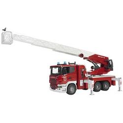 bruder    SCANIA R-Serie Feuerwehrleiterwagen mit Wasserpumpe und Light and Sound Module Spielzeugauto
