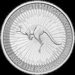 1 Unze Silber Känguru 2020