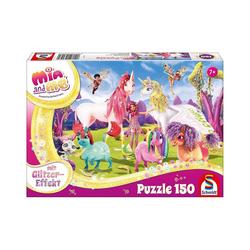 Schmidt Spiele Puzzle Glitzerpuzzle 150 Teile Ankunft der Pony-Einhörner, Puzzleteile