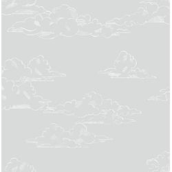 Art for the home Vliestapete Vintage Wolken, (1 St), Grau - 10mx53cm