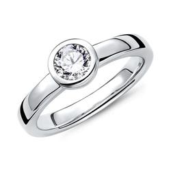 Verlobungsring 925 Silber mit Stein