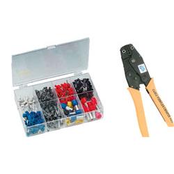 Aderendhülsenzange + Endhülsen Set von 0,5 mm²-16 mm² 450 Stück