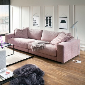 Big Sofa High Loft Megasofa Loungesofa Couch 2-sitzer In Stoff Rosa 290 Cm
