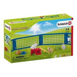 Schleich® Farm World 42500 Zuhause für Kaninchen und Meerschweinchen Spielfiguren-Set
