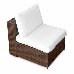 (1er) Polyrattan Lounge Möbel Mittel Sessel braun-mix - Gartenmöbel (1er) Polyrattan Lounge Mittel Sessel, Lounge Mittel Sofa, Lounge Mittel Stuhl - durch andere Polyrattan Lounge Gartenmöbel Elemente erweiterbar