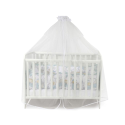 Lorelli Betthimmel Babybetthimmel Baldachin 480 x 150 cm, Insektenschutz Babybett Laufstall weiß