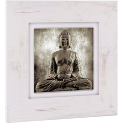 Home affaire Holzbild Sitzender Buddha, 40/40 cm
