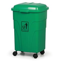 Mobiler mülleimer 70 liter, grün