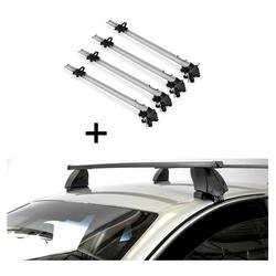 VDP Fahrradträger, 4x Fahrradträger Bike Pro + Dachträger K1 MEDIUM kompatibel mit Opel Insignia (4Türer) 09-13