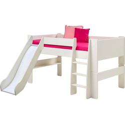 ebuy24 Kinderbett Molly Kids halbhohes Bett mit Rutsche 90x200 cm in