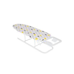 ONVAYA Tischbügelbrett Tischbügelbrett, Mini Bügelbrett, Bügeltisch, Kleines, platzsparendes Bügelbrett gelb