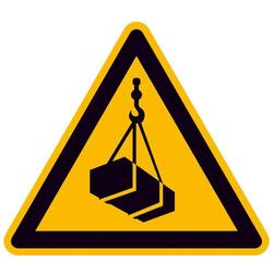 Warnschild Schwebende Last Folie selbstklebend 100mm ISO 7010 1St.