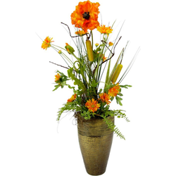 Kunstpflanze Mohn/Rohrkolben, I.GE.A., Höhe 68 cm