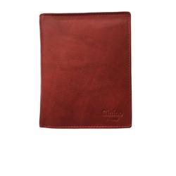 Cinino Geldbörse Platzwunder, Lederbörse Portemonnaie mit extra vielen Fächern rot