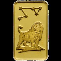 1 g Goldbarren Sternzeichen Löwe