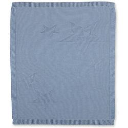 Kuscheldecke aus Strick Baylee, blau, 75 x 90 cm