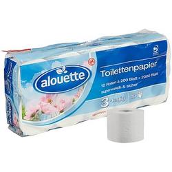 alouette Toilettenpapier 3-lagig 10 Rollen