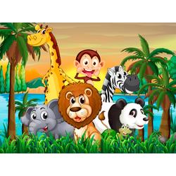 Fototapete Jungle Animals, glatt 4 m x 2,60 m