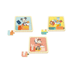 Disney Mickey Mouse Puzzle 3 in1 Mini Puzzle, Mickey Mouse, Minnie Mouse,, Puzzleteile