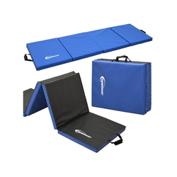 eyepower Fitnessmatte XL Gymnastikmatte Sport-, Turn- und Bodenmatte, Weichbodenmatte blau