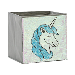 STORE IT! Aufbewahrungsbox Aufbewahrungsbox Pailletten Katze, rosa/blau rosa