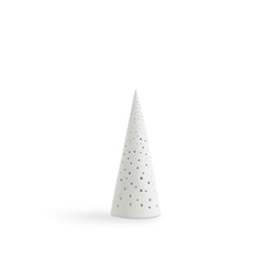 Kähler Nobili Kerzenhalter H24,5 schneeweiß (16211)