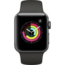 Apple Watch Series 3 (GPS) 42mm Aluminumgehäuse space grau mit Sportarmband schwarz