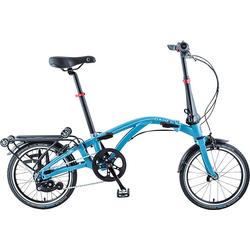 Dahon Faltrad CURL i7, 7 Gang Nabe Nexus 7-Gang Schaltwerk, Nabenschaltung blau Falträder Klappräder Fahrräder Zubehör Fahrrad