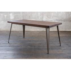 KAWOLA Esstisch KELIO, Holz/Metall versch. Größen 160 x 80 cm - 75 cm